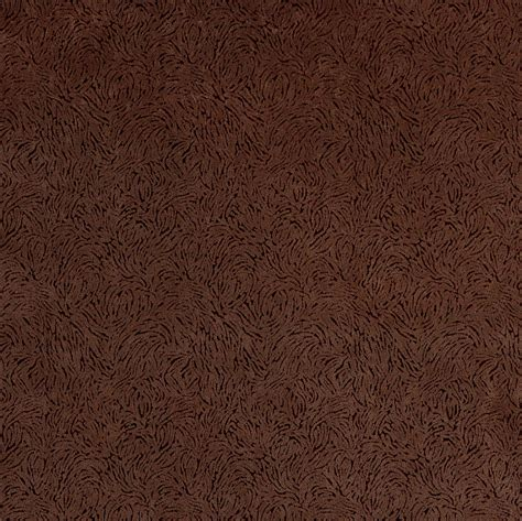 Microfiber Velvet Upholstery Fabric by Chocolate Brown Small Decorative Brush Pattern Microfiber