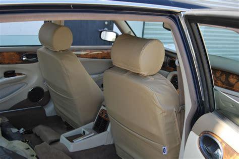 jaguar xj seat covers jaguar xj8 1998 2003 leather like custom fit seat cover