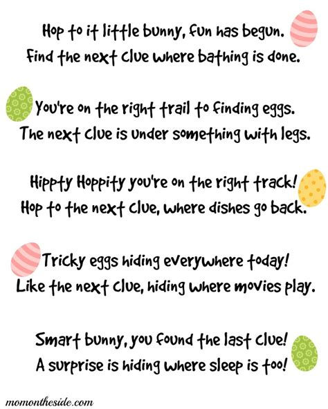 easter scavenger hunt printable easter scavenger hunt clues
