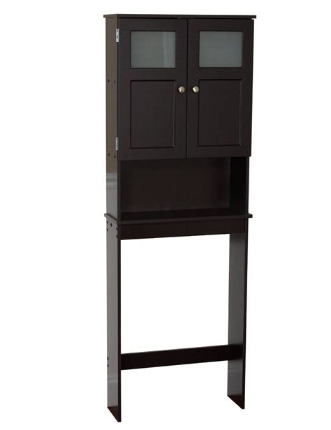 Modern Over The Toilet Dark Wood Space Saver Bathroom Wood Bathroom Storage Cabinet