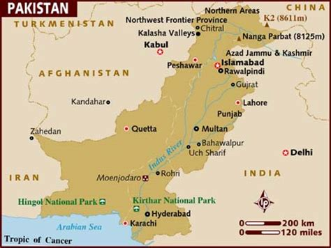 where is pakistan on the map map of pakistan