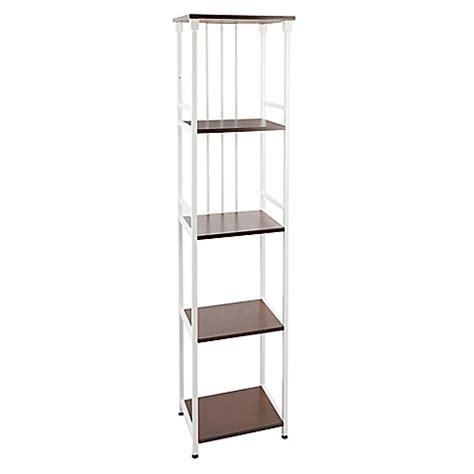bathroom floor shelf buy silverwood 5 tier bathroom floor shelf in white from
