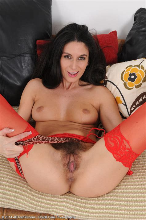 Nikki Daniels Showing Her Hairy Pussy In Lingerie Of