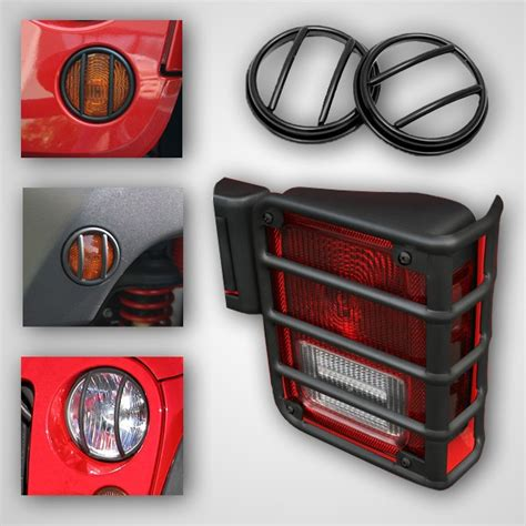 jeep wrangler light guards all things jeep guard light kit for jeep wrangler