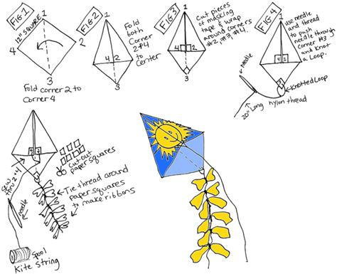 Make A Paper Kite - origami kite origami flower easy