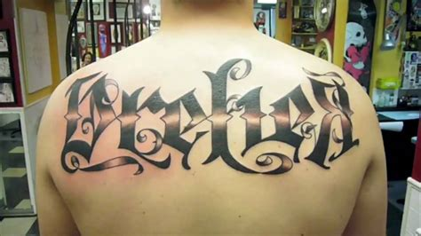 tattoo fonts youtube quot quot style font tattoos