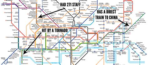 underground station map an interesting fact about every underground station