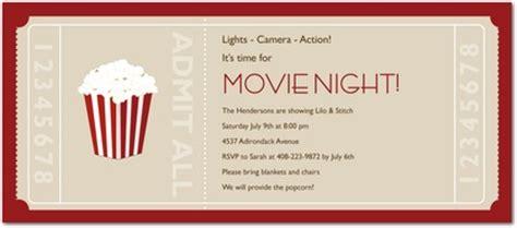 movie ticket party invitations in khaki eandi