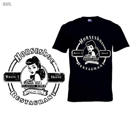 design a restaurant shirt bold serious t shirt design for horseshoe restaurant by