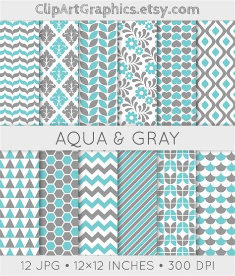 grey pattern paper aqua and gray pattern aqua digital paper sheet grey and