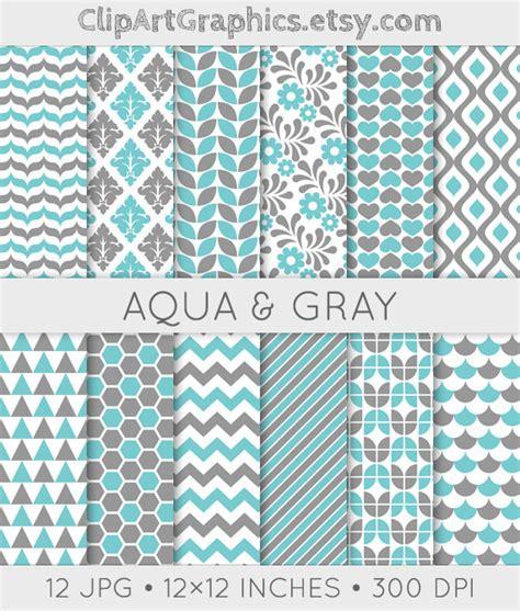pattern grey sheets aqua and gray pattern aqua digital paper sheet grey and