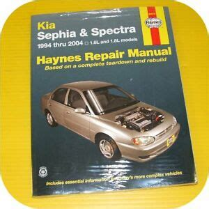 manual repair autos 2001 kia sephia on board diagnostic system repair shop manual book kia sephia 94 01 spectra 00 04 ebay