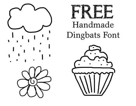 Handmade Fonts Free - free dingbats font quot handmade quot amanda o brien
