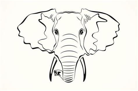 elephant outline tattoo best 25 elephant outline ideas on easy