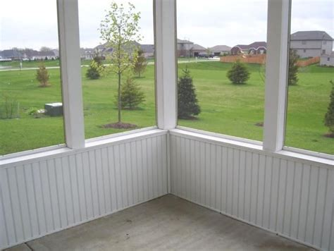 Outdoor Wainscoting Ideas Screened In Porch With Wainscoting Screened In Porch