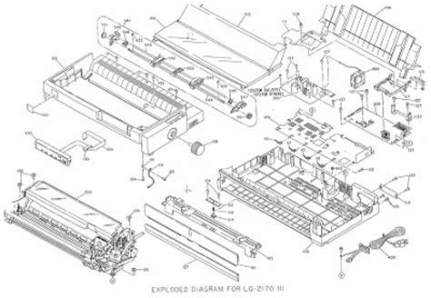 reset printer epson lq 2170 exploded diagram for epson lq 1170 dot matrix printer