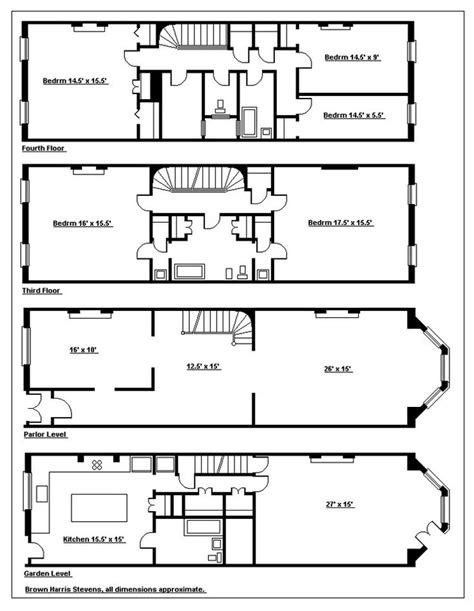 new york townhouse floor plans 104 best townhouse floor plans images on pinterest
