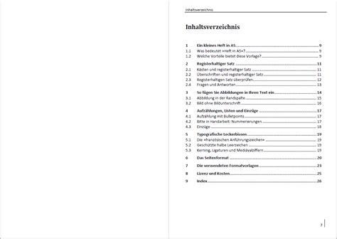Muster Word Inhaltsverzeichnis Attraktive Vorlage F 252 R Ein Sachbuch In A5 Mit K 228 Sten Bildern Und Marginalspalte Satz Und