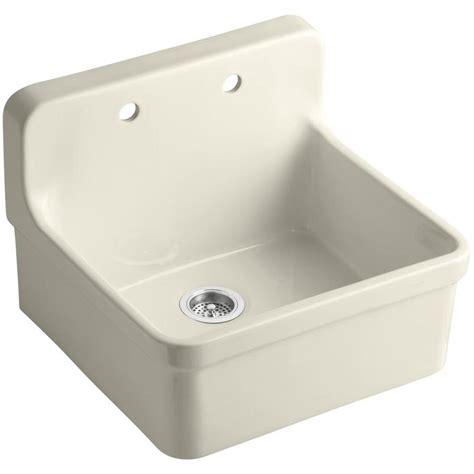 drop in porcelain kitchen sink shop kohler gilford single basin drop in porcelain kitchen