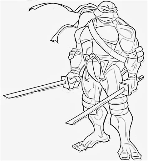 Craftoholic Mutant Turtles Coloring Pages