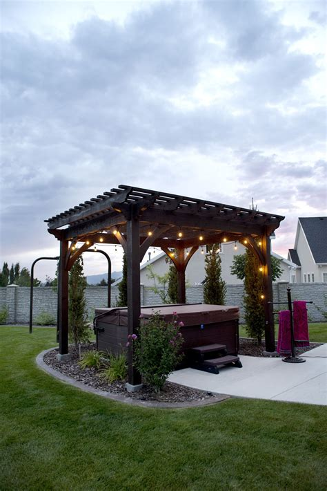 heavenly haven diy pergola over hot tub with a timber