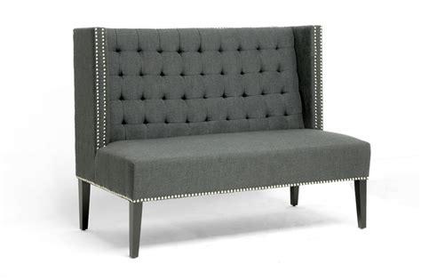 Baxton Studio Owstynn Gray Linen Modern Banquette Bench by Owstynn Gray Linen Modern Banquette Bench Affordable