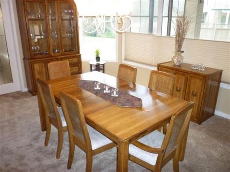 oak dining room sets with hutch oak dining room set china cabinet table with 2 leafs