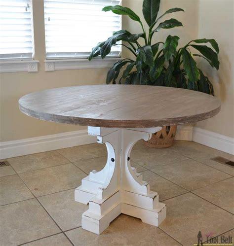 diy pedestal table farmhouse style pedestal table tool belt