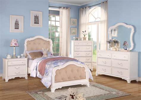 white tufted bedroom set acme ira button tufted youth bedroom set in white