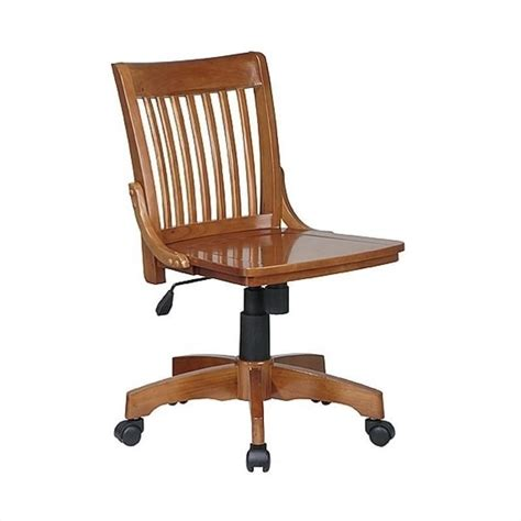 Desk Chair Wood by Deluxe Armless Wood Bankers W Wood Seat Medium Fruitwood Office Chair Ebay