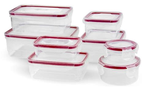 Wide Block Food Container 704 16 pc food storage container set groupon goods