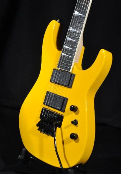 Guitar Jackson Dinky Custom jackson usa custom shop dinky dk1 graffiti yellow guitar