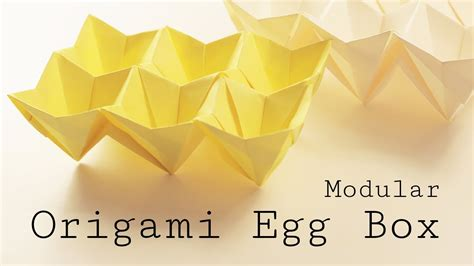 Origami Egg Box - origami easter egg box tutorial modular diy