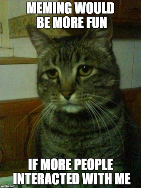Depressed Meme Generator - depressed cat imgflip