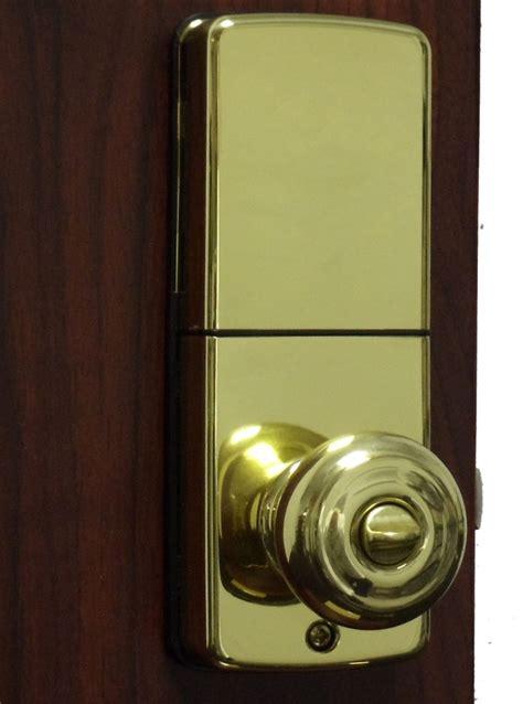 Keyless Door Knob by Lockey E Digital Keyless Electronic Knob Door Lock Bright