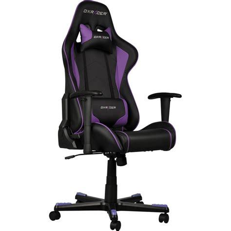 siege de gaming dxracer formula fauteuil gamer noir violet oh fe08 nv