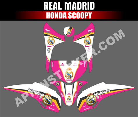Stiker Striping Motor Honda Scoopy Sporty 2017 Putih 81 Modifikasi Striping Scoopy Otomotif