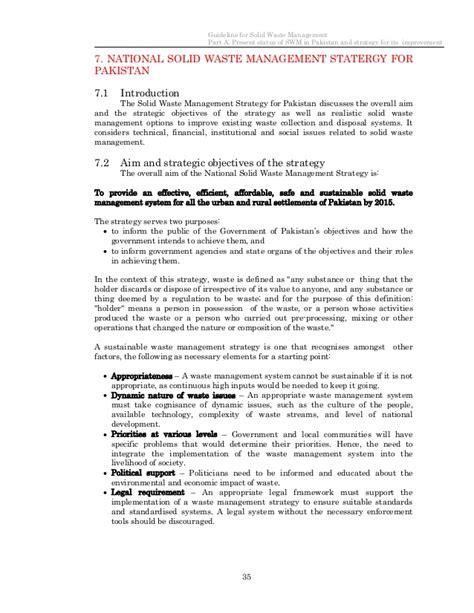 cover letter for waste management draft guideline for solid waste management