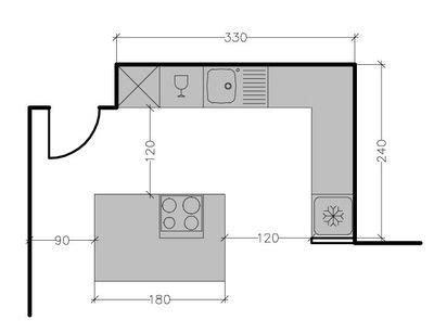 exemple plan de cuisine plan de cuisine avec 238 lot central les 6 exemples 224