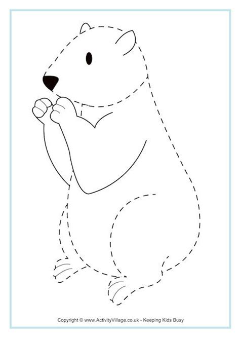 best photos of groundhog cut out pattern for preschoolers