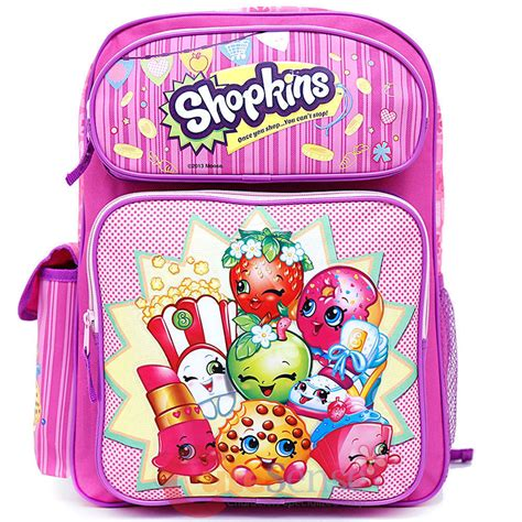 Books Are My Bag Gift Card - shopkins large school backpack 16 quot inches girls book bag licensed product ebay
