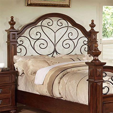 Antique Style Bed Frames Landaluce Transitional Style Antique Oak Finish Size Bed Frame Set