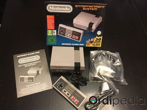 console nes console nintendo nes classic mini 30 jeux inclus ordipedia