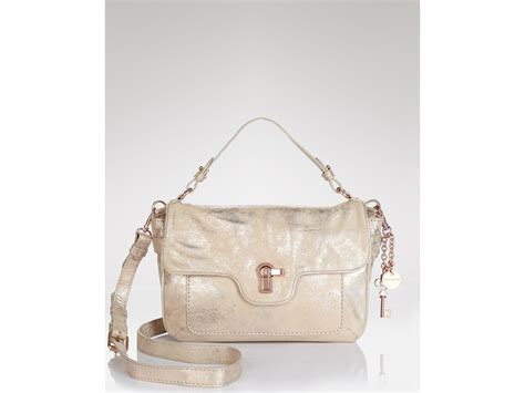 Couture Leather Shoulder Bag by Couture Shoulder Bag Distressed Metallic Leather