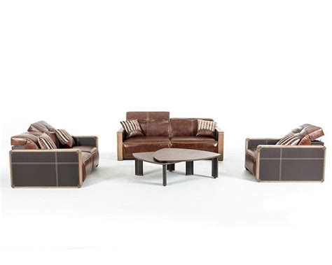 contemporary leather sofa set 44l5956