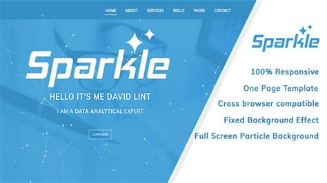Sparkle Personal Portfolio Template Themeforest Website Templates And Themes Youtube Sparkle Website Templates