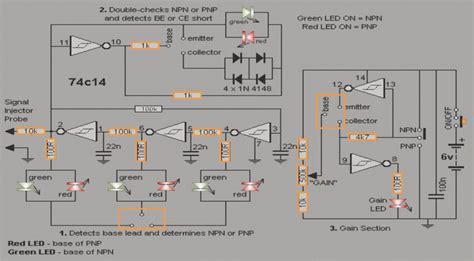 transistor tester circuit simple transistor tester circuit