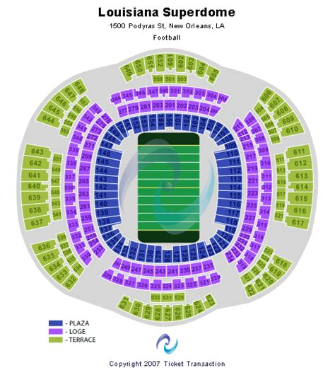 saints superdome seating map mercedes superdome tickets new orleans