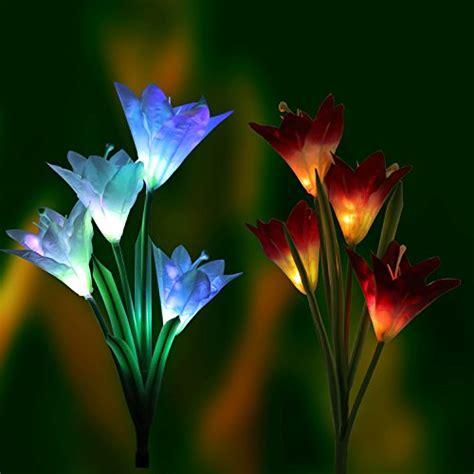 tulip solar garden lights solar tulip garden lights best prices discounts in us