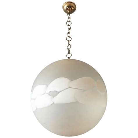 Large Glass Globe Pendant Light Large Murano Glass Globe Pendant Light For Sale At 1stdibs